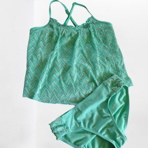 Justice bathing suit Tankini Girl's size 10